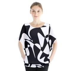 Black and white elegant pattern Blouse