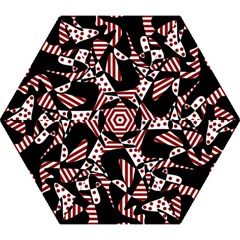 Red, black and white abstraction Mini Folding Umbrellas