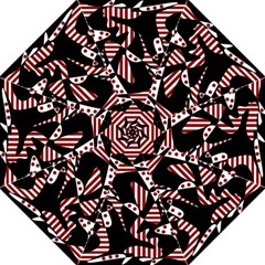 Red, black and white abstraction Hook Handle Umbrellas (Medium)