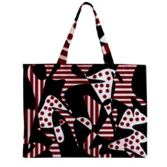 Red, black and white abstraction Zipper Mini Tote Bag