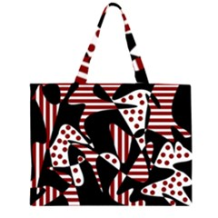 Red, black and white abstraction Large Tote Bag