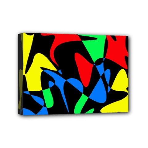 Colorful abstraction Mini Canvas 7  x 5