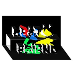 Colorful abstraction Best Friends 3D Greeting Card (8x4)
