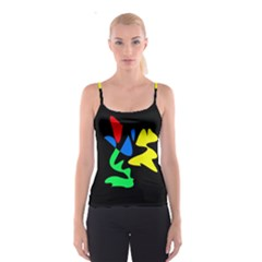Colorful abstraction Spaghetti Strap Top