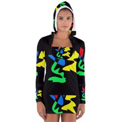 Colorful abstraction Women s Long Sleeve Hooded T-shirt