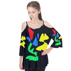 Colorful Abstraction Flutter Tees
