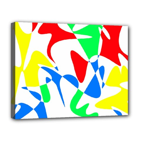 Colorful abstraction Canvas 14  x 11
