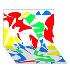 Colorful abstraction Clover 3D Greeting Card (7x5)