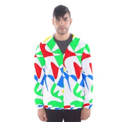 Colorful abstraction Hooded Wind Breaker (Men)