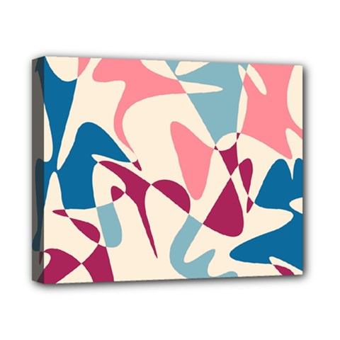 Blue, pink and purple pattern Canvas 10  x 8