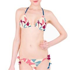 Blue, pink and purple pattern Bikini Set