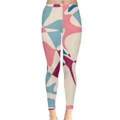 Blue, pink and purple pattern Leggings