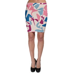 Blue, pink and purple pattern Bodycon Skirt