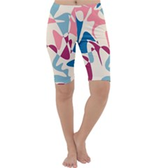 Blue, pink and purple pattern Cropped Leggings