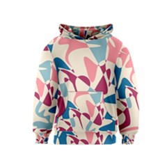 Blue, pink and purple pattern Kids  Pullover Hoodie