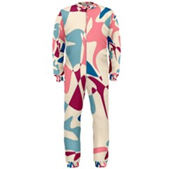 Blue, pink and purple pattern OnePiece Jumpsuit (Men)