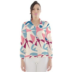 Blue, pink and purple pattern Wind Breaker (Women)