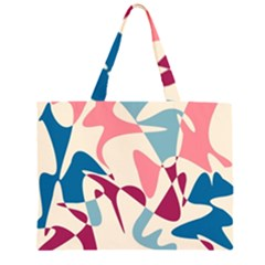 Blue, pink and purple pattern Large Tote Bag