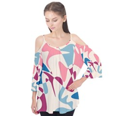 Blue, pink and purple pattern Flutter Tees