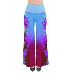Retro Abstract Colorsplash Women s Chic Palazzo Pants