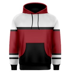 Red, White and Black Men s Pullover Hoodie