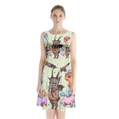 Evil Is Magic Sleeveless Waist Tie Dress