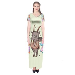 Evil Is Magic Short Sleeve Maxi Dress