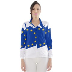 Catalonia European Union Flag Map  Wind Breaker (Women)