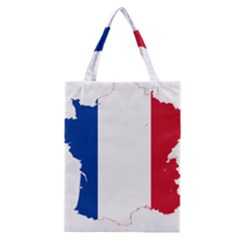 Flag Map Of France Classic Tote Bag