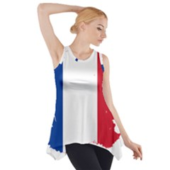 Flag Map Of France Side Drop Tank Tunic