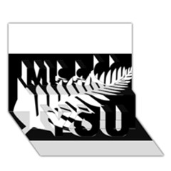 New Zealand Silver Fern Flag Miss You 3D Greeting Card (7x5)