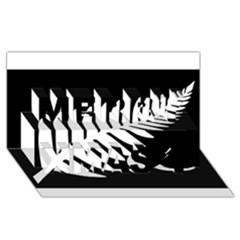 New Zealand Silver Fern Flag Merry Xmas 3D Greeting Card (8x4)