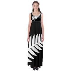 New Zealand Silver Fern Flag Empire Waist Maxi Dress