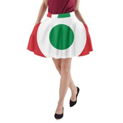 Roundel Of The Italian Air Force, 1911 1946 A-Line Pocket Skirt