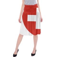 Coat Of Arms Of Switzerland Midi Beach Skirt