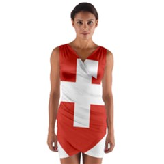 Coat Of Arms Of Switzerland Wrap Front Bodycon Dress