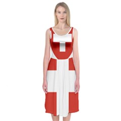 Coat Of Arms Of Switzerland Midi Sleeveless Dress