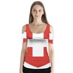 Coat Of Arms Of Switzerland Butterfly Sleeve Cutout Tee