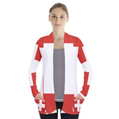 Coat Of Arms Of Switzerland Women s Open Front Pockets Cardigan(P194)