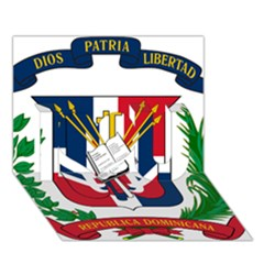 Coat Of Arms Of The Dominican Republic I Love You 3D Greeting Card (7x5)
