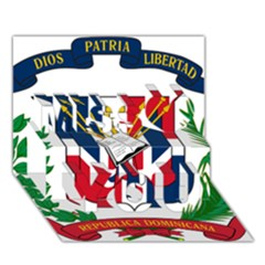 Coat Of Arms Of The Dominican Republic Miss You 3D Greeting Card (7x5)