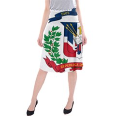 Coat Of Arms Of The Dominican Republic Midi Beach Skirt