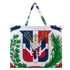 Coat Of Arms Of The Dominican Republic Zipper Large Tote Bag