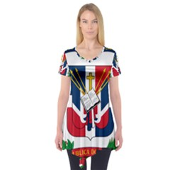 Coat Of Arms Of The Dominican Republic Short Sleeve Tunic