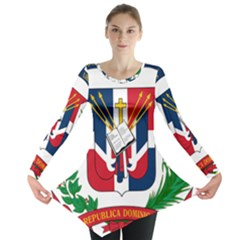 Coat Of Arms Of The Dominican Republic Long Sleeve Tunic