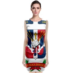 Coat Of Arms Of The Dominican Republic Classic Sleeveless Midi Dress