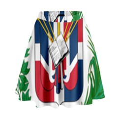 Coat Of Arms Of The Dominican Republic High Waist Skirt