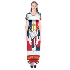 Coat Of Arms Of The Dominican Republic Short Sleeve Maxi Dress