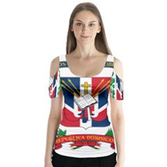 Coat Of Arms Of The Dominican Republic Butterfly Sleeve Cutout Tee