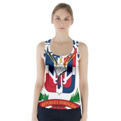 Coat Of Arms Of The Dominican Republic Racer Back Sports Top